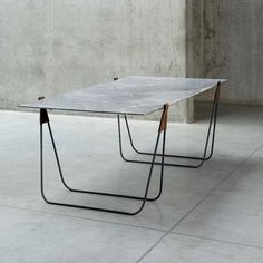 In Vein is a marble trestle table that can be used as a mirror by positioning it straight up against the wall. The original trestle table represents simplicity, Design Furniture, Modern Furniture, Table Mobile, Spindle Chair, Furniture Dining Table, Trestle Table, Trestle Legs, Table Legs, Home Furnishings
