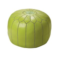 Lime Moroccan Leather Pouf | Serena & Lily