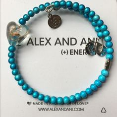 Alex & Ani Electric Blue with Heart Bracelet NWOT- STUNNING! RARE- Alex & Ani Electric Blue with Clear Heart Vintage (2005-2006 Collection) Bracelet RETAIL $58.00 Alex and Ani  Jewelry Bracelets