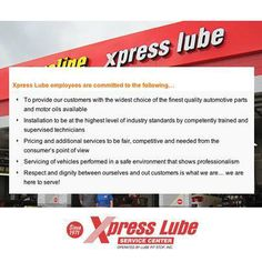 Respect and dignity between ourselves and our customers is what we are all about… we are here to serve you! Find out more about us http://xpresslubelps.com