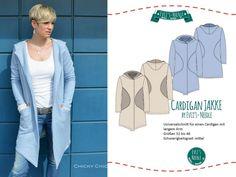 "Ebook Damen Cardigan ""JAKKE"" by EvLi's-Needle"