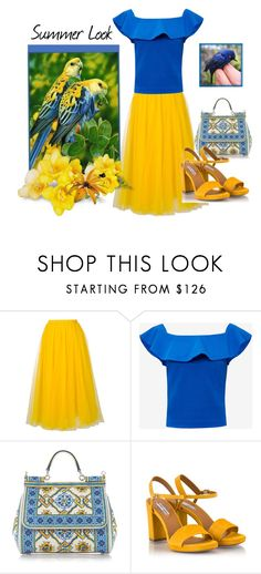 """""""Summer Look"""" by aquadecorator ❤ liked on Polyvore featuring Rochas, Ted Baker, Dolce&Gabbana and Fratelli Karida"""