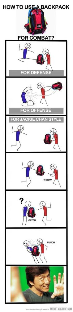 Haha since my backpack is practically permanently stuck to me, this could be useful!