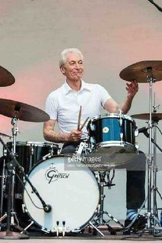 British drummer Charlie Watts performs with his band, the ABC&D of. Steve Gadd, Keith Richards, Mick Jagger, The Rolling Stones, Rock N Roll Music, Rock And Roll, Phil Collins, Gretsch Drums, Rollin Stones