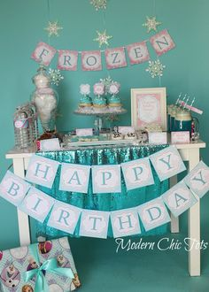 Frozen Inspired Party Printables