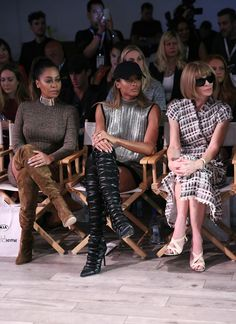 La La Anthony and Ciara give it some with Anna Wintour