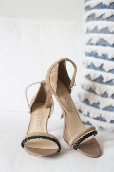 Taupe/Black Strappy Heel Perfect For A Nice Spring Occasion