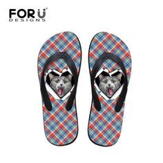 d2ff6ae5e Funky Fashion 3D Dog   Cat Designs Summer Beach Flip Flops Sandals. Flip  Flop ShoesMens ...