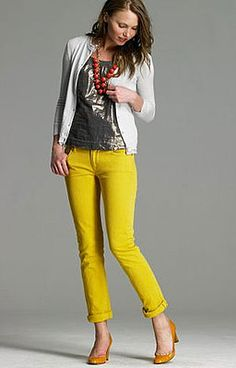art of wore - seattle fashion blog - great site! i am contemplating colored jeans, hmmm