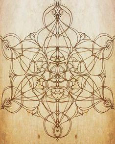 metatrons . sacred geometry