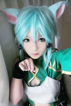 THIS IS THE BEST SINON COSPLAY I'VE EVER SEEN OH DEAR LORD