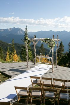Aspen Mtn wedding deck The Aspen Branch and Aspen Eventworks, Robin Proctor Photography