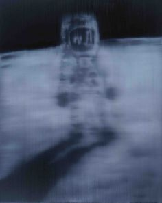 Neil Armstrong, oil on canvas, 5ft x 4ft, 1997, Alison Van Pelt