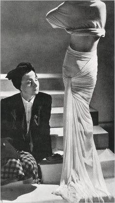 Madame Grès c. 1946. Photo Credits: Eugene Rubin/ FNAC/Centre national des arts plastiques, ...