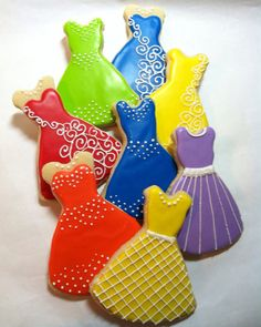 Fancy Dress Cookies1 Dozen by kjcookies on Etsy, $36.00