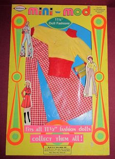 Vintage Shillman Mini-Mod Doll Barbie Clone Fashion MIP  Playtime Outfit #9912