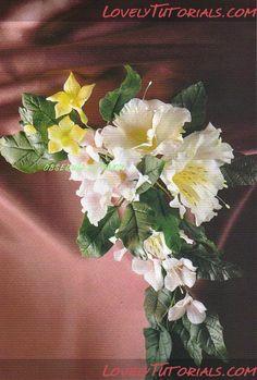 """""""Гесперис матроналис"""" (ночная фиалка)-Gumpaste (fondant, sugar, polymer clay) Dame's Rocket flower tutorial"""