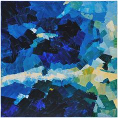 Bold paint strokes in cool colors make up this masterpiece from Surya's in-stock wall decor collection (ART-1009).