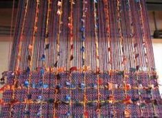 Novelty yarn - purple blue scarf