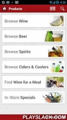 BC Liquor Stores  Android App - playslack.com , *Official BC Liquor Stores app* Whether you're in BC Liquor Stores or on the go, help is just a tap away. Use this app to find out what's available in BC Liquor Stores.WHAT'S NEW:- Code updates and performance improvementsFEATURES:Products: Browse, search, or scan the barcode on products. See current inventory in nearby stores. Share your favourites with friends via email, text message, Facebook or Twitter.My Cellar: Organize your favourites…