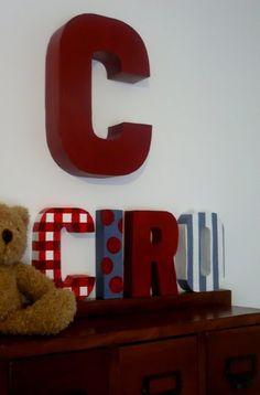 * Decoração e Invenção *: PAP - Como fazer letras decorativas  Lindo.