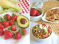 OMG - want this. Making it. Yumm-O!   Strawberry, Roasted Corn & Avocado Salsa Recipe   Family Fresh Cooking