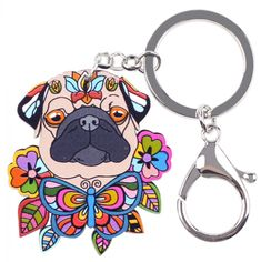 Item Type: Key ChainsFine or Fashion: FashionMetal color: Imitation Rhodium PlatedStyle: TrendyCompatibility: pug dog key chain butterfly 1 Funny Dogs, Cute Dogs, Carlin, Mamas And Papas, Cat Supplies, Gadget Gifts, Westies, Little Dogs, Shape Patterns