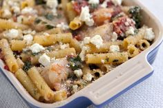 Baked Ziti with Shrimp and Spinach Recipe #inspiredtaste
