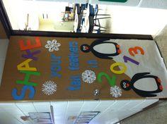My January classroom door
