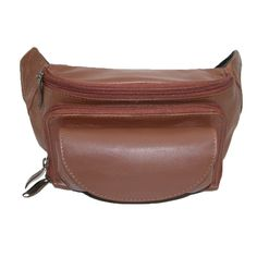 Winn International Leather Cell and Eyeglass Case Waist Pack