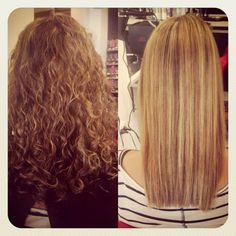 Naturally curly hair peeps…to go straight or not to go straight today…decisions decisions :)