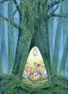 Sweet illustration by Marla Frazee who is an American author and illustrator of children's literature. She has won two Caldecott Honors for picture book illustration. Art And Illustration, Book Illustrations, Marla Frazee, Illustrator, I Love Books, Childrens Books, Fantasy Art, Book Art, Drawings