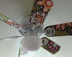 Decorate a ceiling fan with mod podge scrapbook paper ceiling fan share tweet 1 mail tweetthis is the ceiling fan that was in my daughters room aloadofball Images