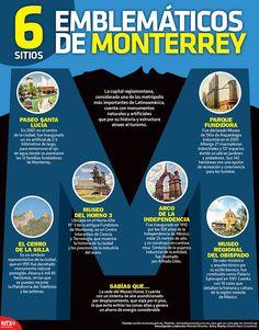 Si en tus próximas vacaciones tienes contemplado visitar Monterrey, en la #Infographic te informamos de 6 sitios emblemáticos que no te puedes perder.