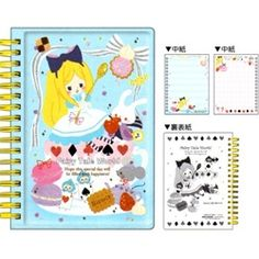 Kamio *Alice In Wonderland* Fairy Tale World A6 Notebook with Puffy Hard Cover