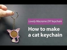 Welcome to Thaohandmade channel. Make a cat keychain macrame style. I believe that it is also a handmade gift meaningfully. Macrame Bracelet Tutorial, Cat Keychain, Girl Scout Crafts, Macrame Art, Weaving Projects, Gifts For Family, Jewelry Art, Coins, Handmade Gifts