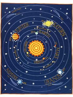 Shop Solar Space Quilt.  Let the countdown to bedtime begin.  Our out-of-this-world Solar System quilt features our eight official planets orbiting the sun.
