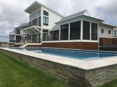 Bronze Cable Rail | Oak Construction | Rehoboth Beach Stainless Steel Cable Railing, Cable Railing Systems, Porch Enclosures, Rehoboth Beach, Bronze, Construction, Mansions, House Styles, Outdoor Decor