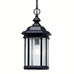 Kichler Kirkwood Black Single Traditional Clear Glass Lantern Pendant Light at Lowe's. At Kichler, we've been shedding light on what's important since 1938 by creating dependable, high-quality fixtures. Even as a global brand, we focus on Outdoor Hanging Lanterns, Outdoor Lighting, Porch Lighting, Exterior Lighting, Kitchen Lighting, Lighting Ideas, Lantern Pendant Lighting, Shops, Residential Lighting