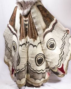 [OP's comment] Dye-painted wool felt cape, part of my emperor moth comission.