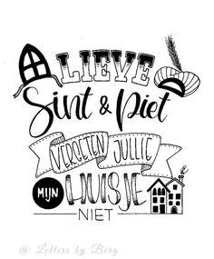 Sinterklaas poster #handlettering #sinterklaas