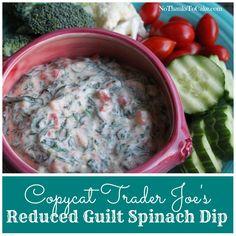 Copycat Trader Joe's Reduced Guilt Spinach Dip