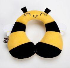 Nákrčník pre deti v tvare včielky poskytuje oporu hlavičky pri cestovaní v autosedačke alebo kočíku.