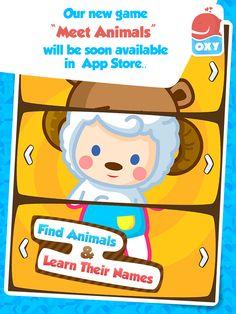 """Yeni oyunumuz """"OXY Meet Animals"""" yakında App Store'da.."""