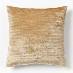 Woven Silk Pillow Cover - Horseradish | west elm