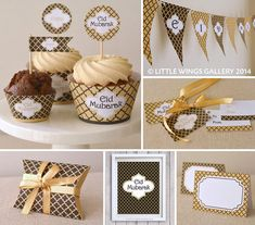 Printable Eid Decorations Pack (Moroccan Delights: Black Gold), Digital Download