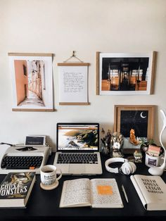Writers Desk, Desk Essentials, Desk Inspiration, Motivation Inspiration, Desk Setup, Office Setup, Laptop Stand, Work Desk, Study Motivation