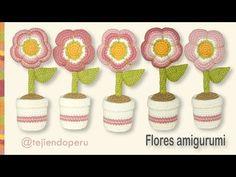 Flores amigurumi (crochet) - YouTube