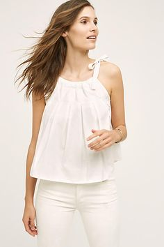 Shop our sale on women's clothing at Anthropologie and fill your closet with fashionable essentials that will turn heads everywhere you go! Boho Outfits, Cute Outfits, Blusas Crop Top, Blouse Outfit, Outfit Combinations, Dress Me Up, Poplin, Spring Summer Fashion, Fashion Forward