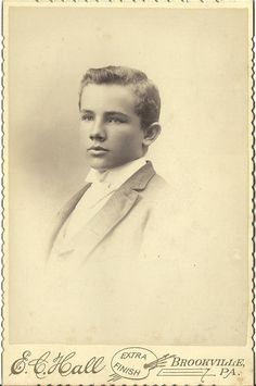 Cabinet Photo Exceptionally Handsome Charming Young Victorian Boy Brookville PA
